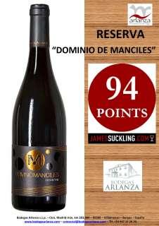 Crno vino Dominio de Manciles, Reserva